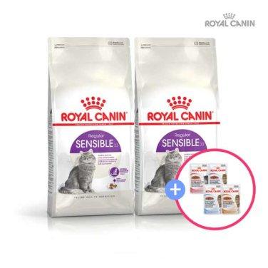 로얄캐닌 센서블(CENSIBLE) 4kg * 2팩 + 습식파우치 증정