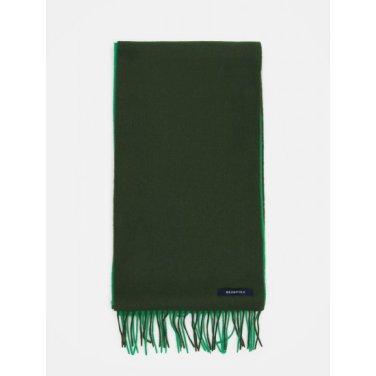 컬러 블록 우븐 머플러 - Green (BE9X84M02M)