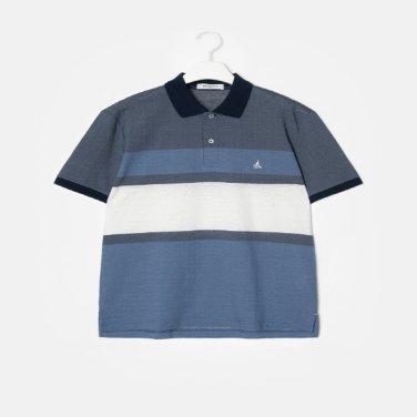 S/S 네이비 컬러 블록 소로나 칼라 티셔츠(BC9342A22R)