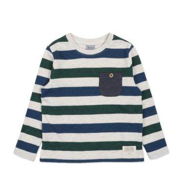 BT17TS01IV남아 스트라이프 티셔츠
