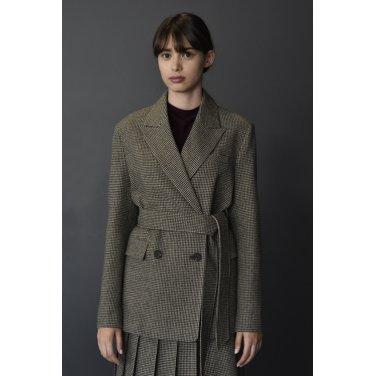 [아바몰리] Molli Belted Double Jacket_KHAKI BROWN