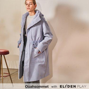 [우아솜메] Ouahsommet REVERSIBLE MUSTANG HOOD COAT [BLUE] (OBBCT003A)