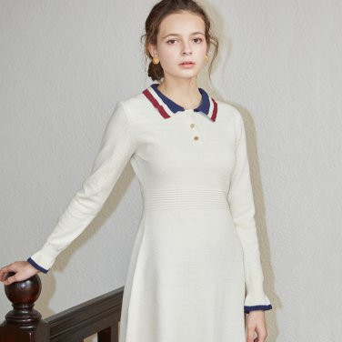 COLLAR KNIT ONEPIECE_IVORY(VV18WTOP02IV)