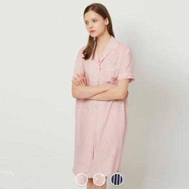 여 레이온 라운지 숏슬리브 드레스 559501