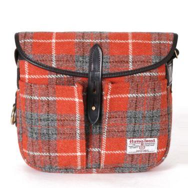 BRADY BAGS STOUR Fishing Bag Harris Tweed Orange