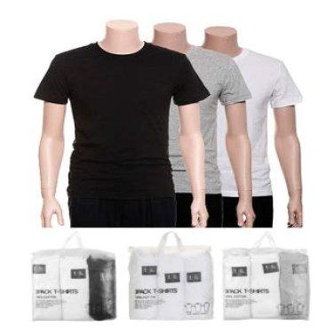남녀공용 3PACK 라운드 반팔 티셔츠 T175TS900P