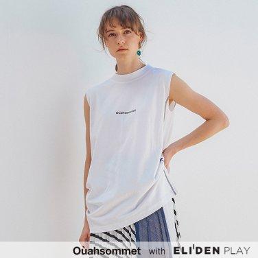 [우아솜메] Ouahsommet Asymmetric Drape Top_WH (OBFTT001A)