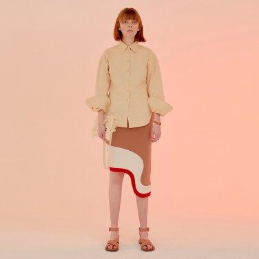 New Seville Curvy Hem Skirt_RoseCamel (JC20SSSK01RC)