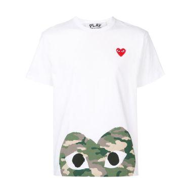 19ss 꼼데가르송 하단 카모하트 티셔츠 화이트 T244L