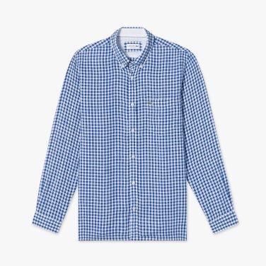 (남성) 나노 깅엄 린넨 셔츠  CH7095-19B_X0U_KR217