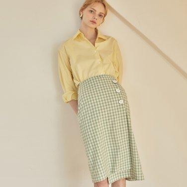 JE Asymmetry Wrap Skirt_GR