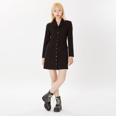 RNHI SLIM BLAZER DRESS [BLACK]