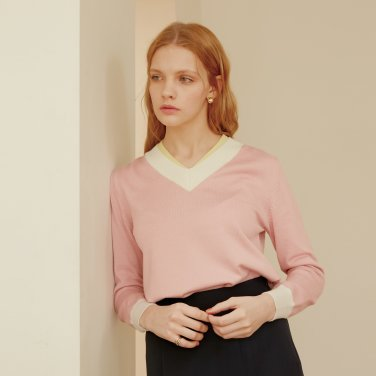 DOUBLE COLOR KNIT_PINK