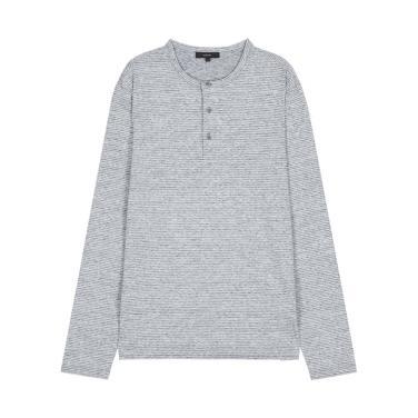 라움맨 [VINCE]스트라이프 헨리 티셔츠-RASH0EVC2