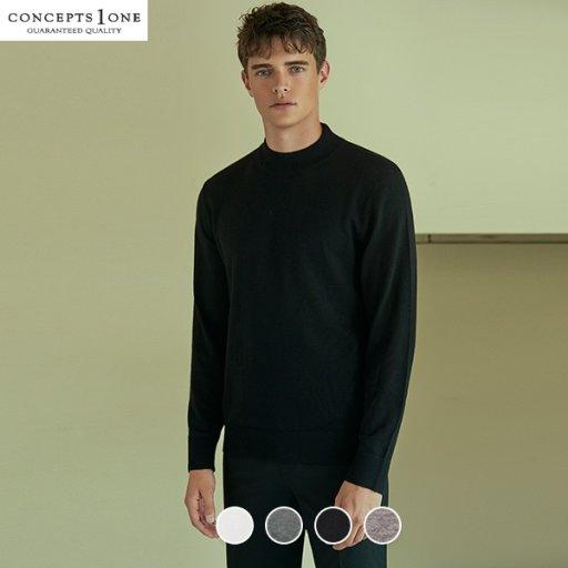 남성 메리노울 모크넥 스웨터 (10059905)