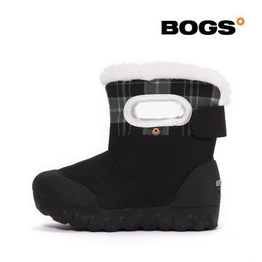 [보그스] 스노우캠프-체크블랙 유아 방한부츠 아동부츠