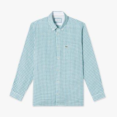 (남성) 나노 깅엄 린넨 셔츠  CH7095-19B_S6T_KR217