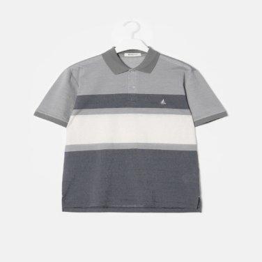 S/S 그레이 컬러 블록 소로나 칼라 티셔츠(BC9342A223)