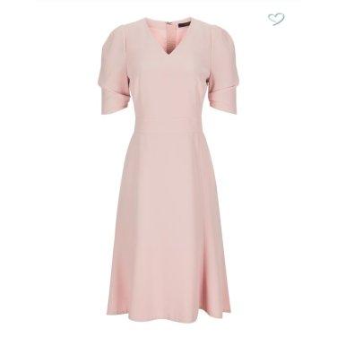 핑크 셔링장식 5부소매원피스JSDR9C561P4