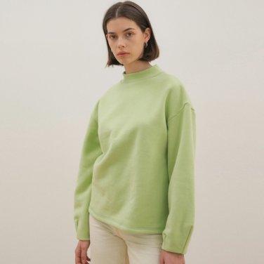 Mock Neck Sweat Shirt - Lime