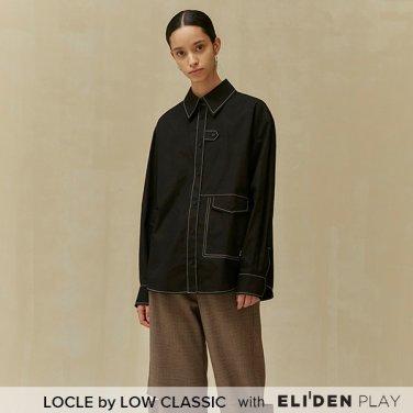 [로우클래식] 19 FALL LOCLE Stitch point shirt_black (Z3LCI6ST102)