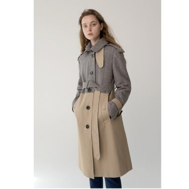 [바이리군]Two Tone Wool Trench Coat_CT0 (RIGOON2003E)