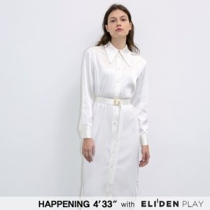 [HAPPENING 433] 20SS SATIN SHIRTS ONEPIECE_IVORY (HP202OP04)
