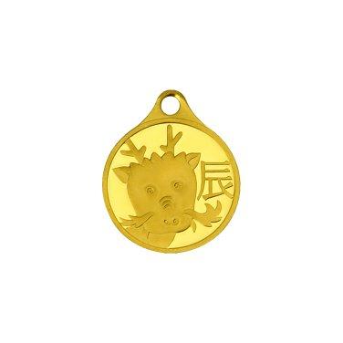 용띠 목걸이 메달 3.75g