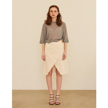 Cutting Cotton Skirt _ Ivory