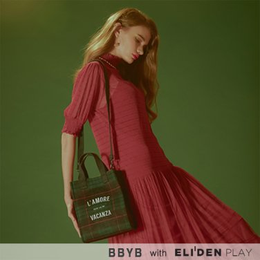 [비비와이비] BBYB Tartan Small Tote Bag (Green) (09I3210C4G)