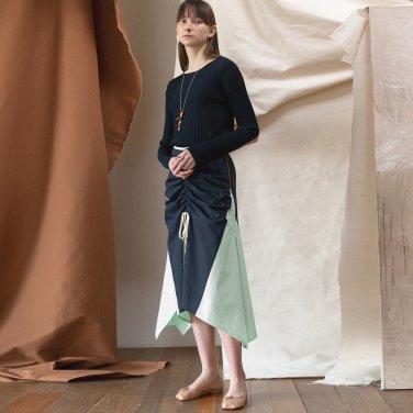 Merida Cotton Shring Skirt [DK Navy] (JC19SSSK07_DN)