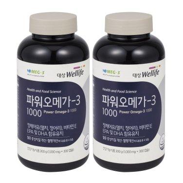 대상웰라이프 파워오메가-3 1000 x 2병 (10개월분)