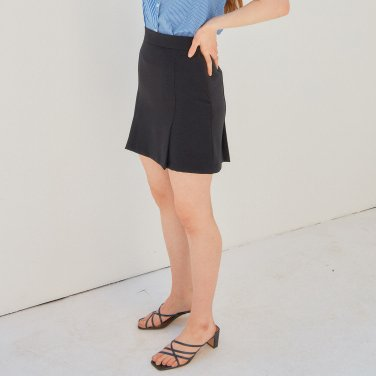 PLEATED MINI SKIRT_BLACK