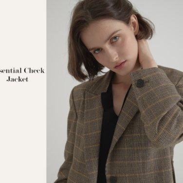 [비뮤즈맨션]Essential check jacket (19BMFW2E)