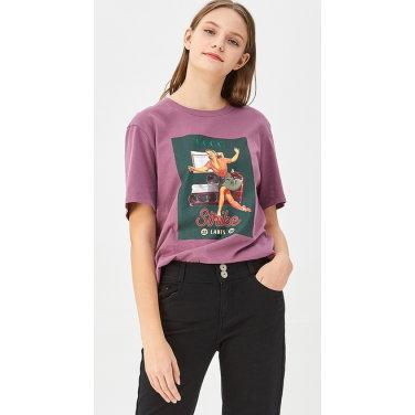 레트로 프린팅 티셔츠 BATS16941