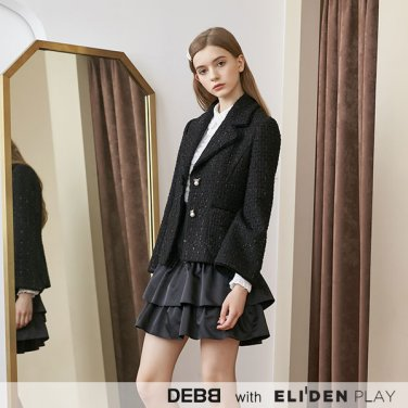 [뎁][DEBB Signature] 벨소매 블랙 트위드 자켓 (1color) (DBCMA5004M)
