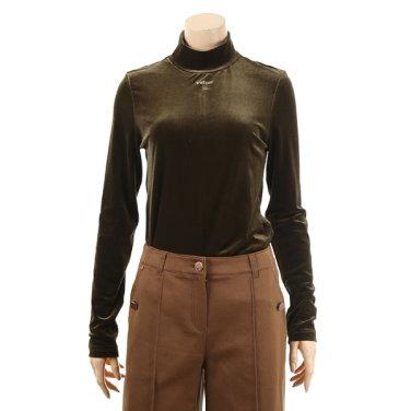 여성 벨로아 레터링 폴라 티셔츠(TWIBX2812)