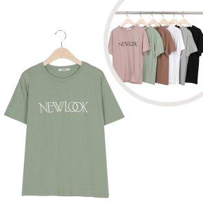 라운드 뉴룩 레터링 데일리 반팔 티셔츠 (ALEWT067)