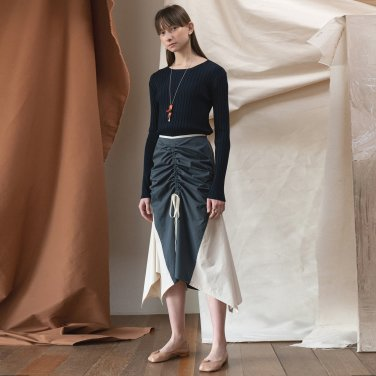 Merida Cotton Shring Skirt [DK Grey] (JC19SSSK07_DG)