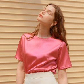 SILKY T-SHIRTS_PINK