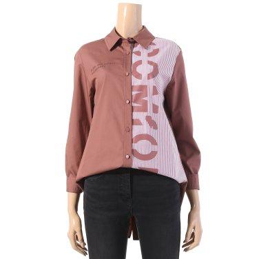 레터링 스트라이프 배색 셔츠(TYBAI2418)