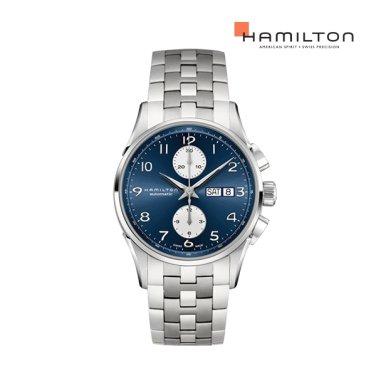 H32576141 재즈마스터 마에스트로 오토크로노 41mm 블루 메탈 남성 시계
