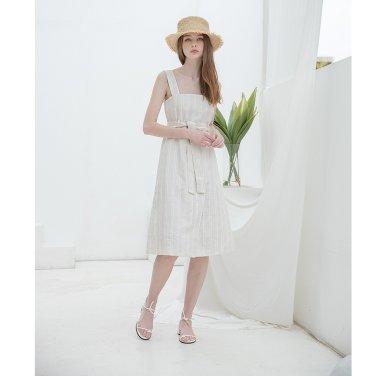 [클렛] Linen Check Sleeveless Dress(19CLETSM12E)