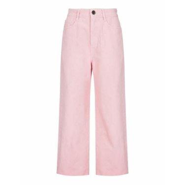 핑크 단색 면 와이드데님팬츠(JSPA9B140P2)