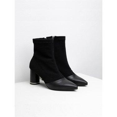 [수아베] Socks Ankle boots Heather_SVDO1001_7Cm