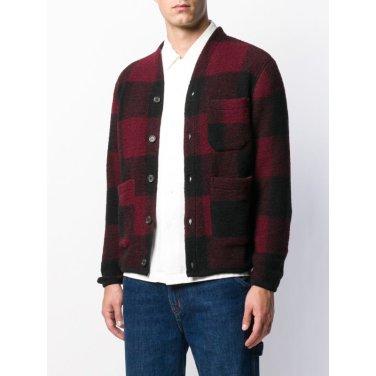 울 플라이스 가디건 레드 / Cardigan in Bright Red Wool Fleece / 21698