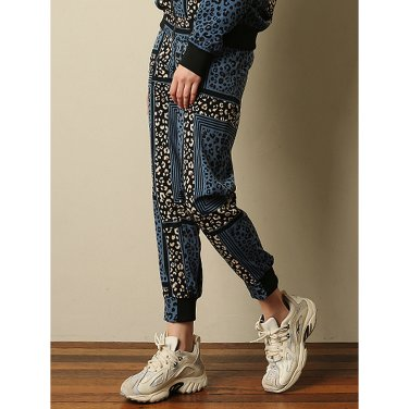 Leopard - Jogger Pants _ Blue