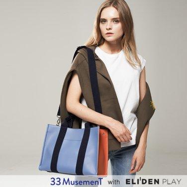 [33뮤즈먼트] 33 MusemenT  33 Cube Bag Medium Blue (MB-1909-01M)