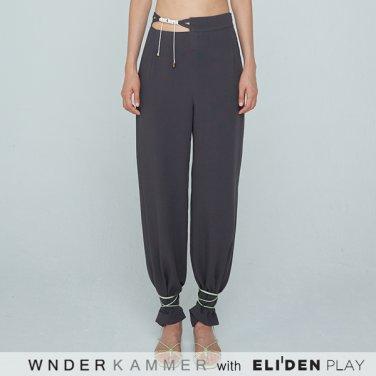 [분더캄머:WNDERKAMMER] 20SS Waist Strap Trousers Charcoal (WK0S4-WSPT040)