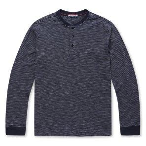 까르뜨블랑슈19년 봄 인기 헨리넥 라운드 티셔츠 CMS9KR01
